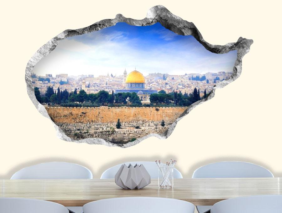 מדבקה - חור בקיר ירושלים