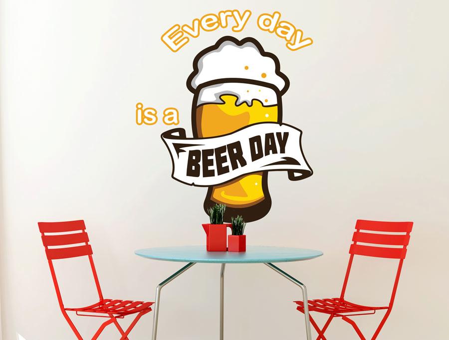 מדבקה - כל יום הוא יום בירה