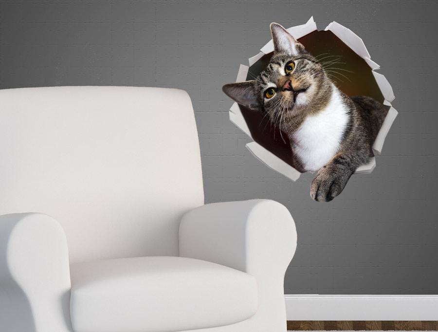 מדבקה - חתול מתוק