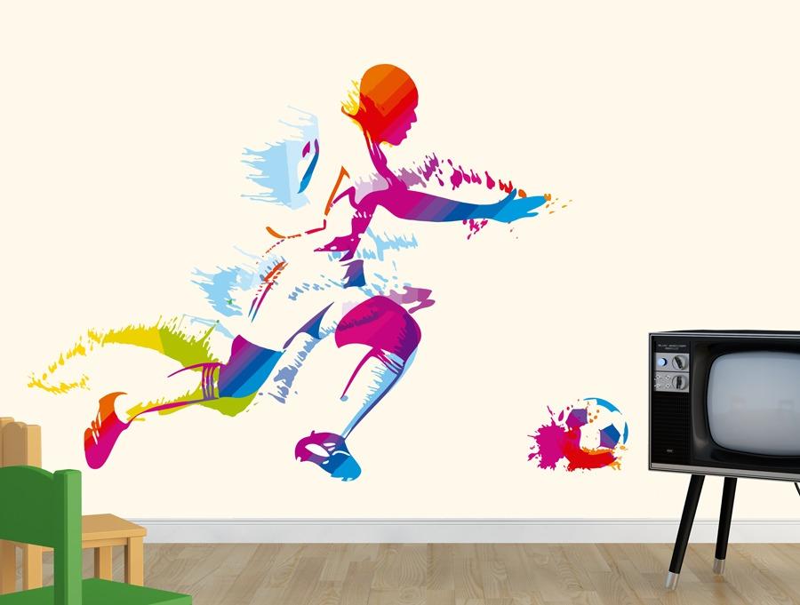 מדבקה - כדורגל צבעוני
