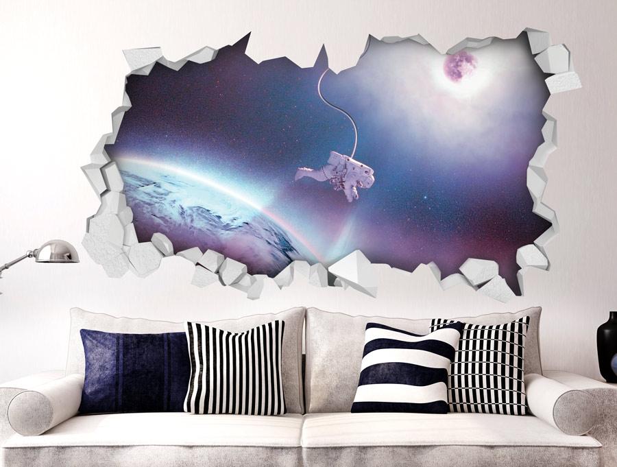 מדבקה - אסטרונאוט צף בחלל