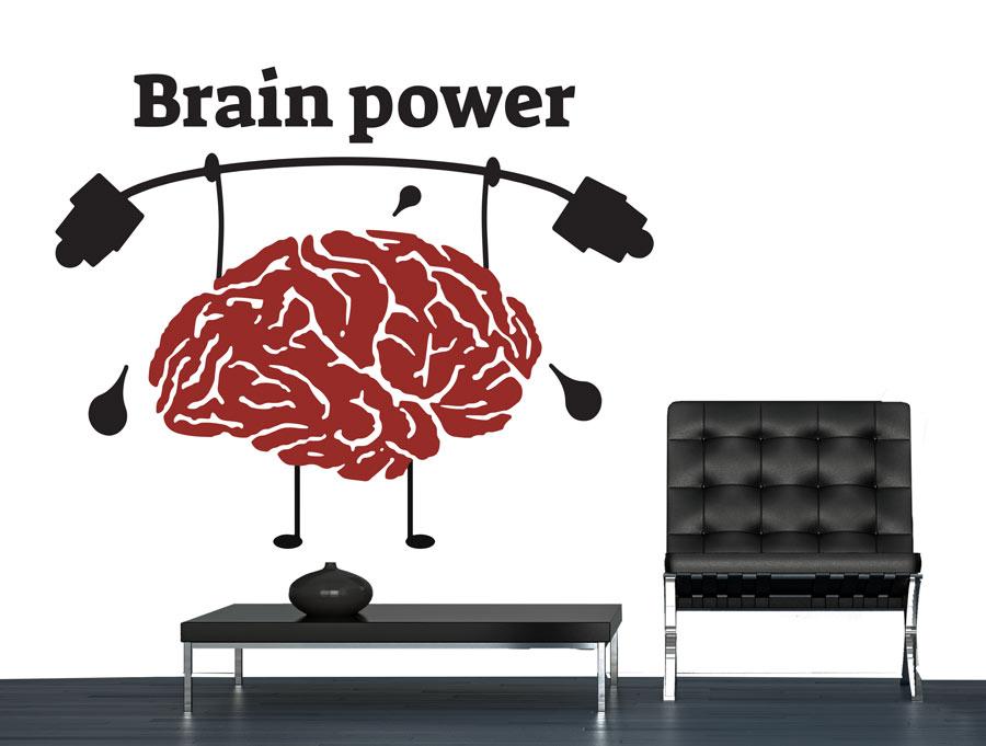 מדבקה - כוח המוח