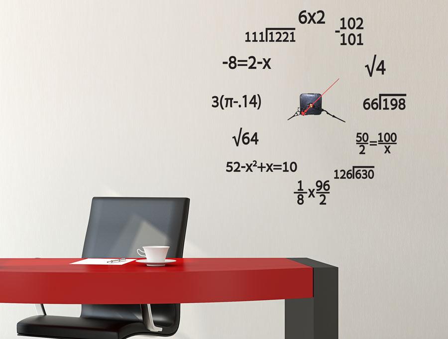 מדבקה - שעון מתמטי