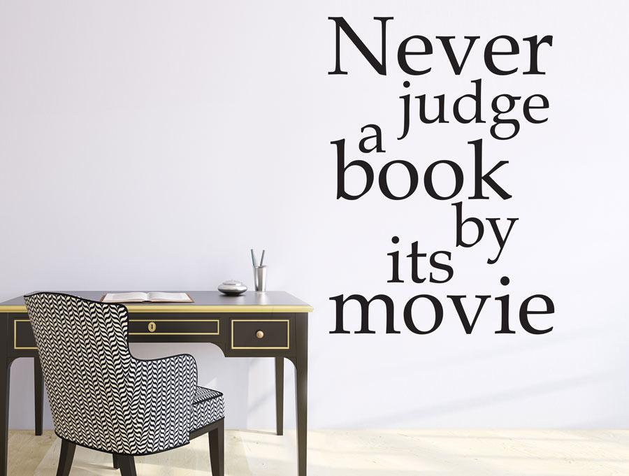 מדבקה -  לעולם אל תשפוט ספר לפי הסרט שלו