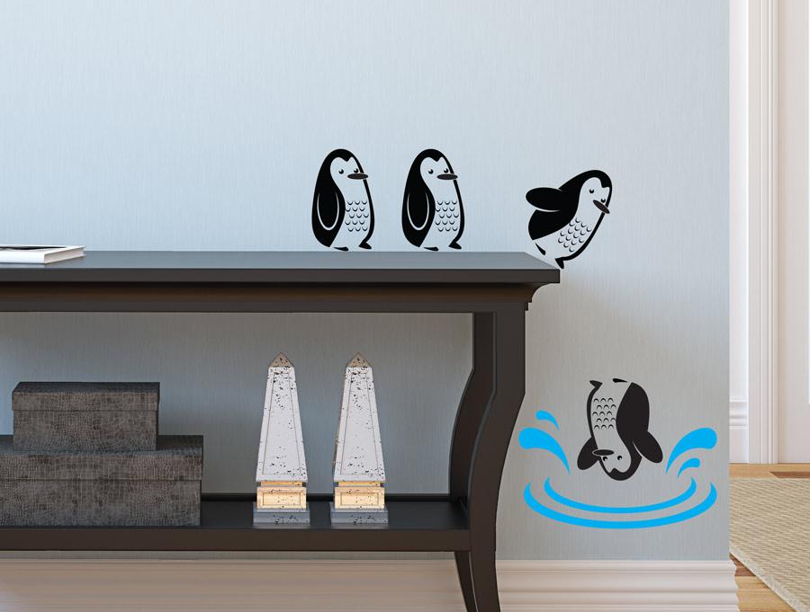 מדבקה - פינגווינים מצחיקים