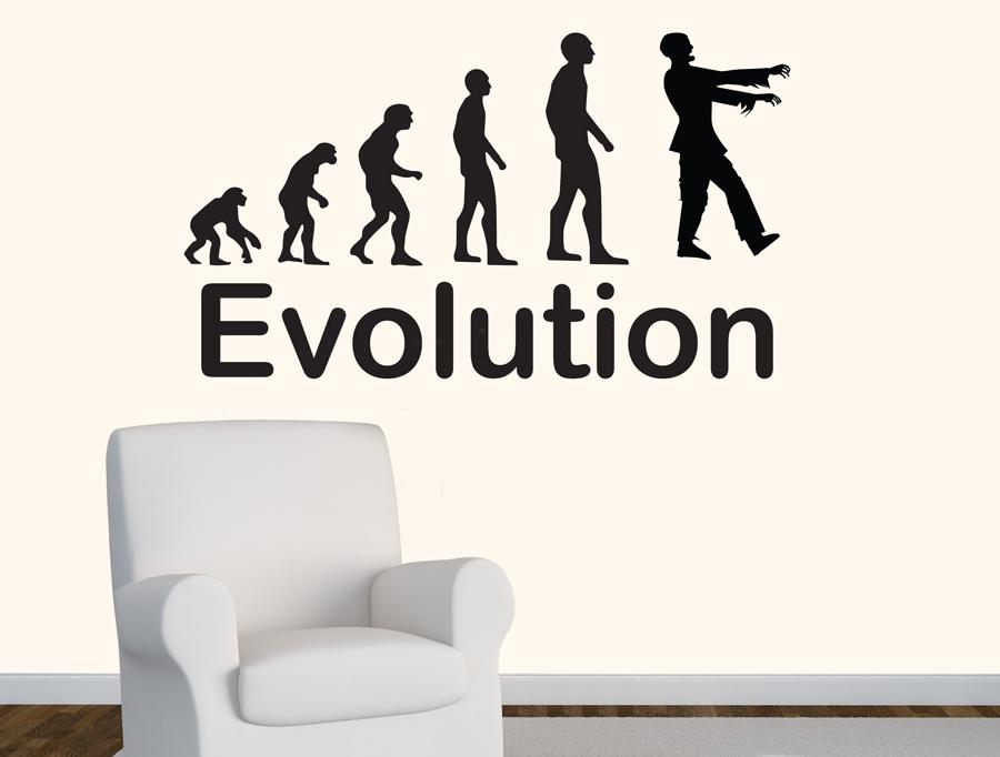 מדבקה - אבולוציה זומבי