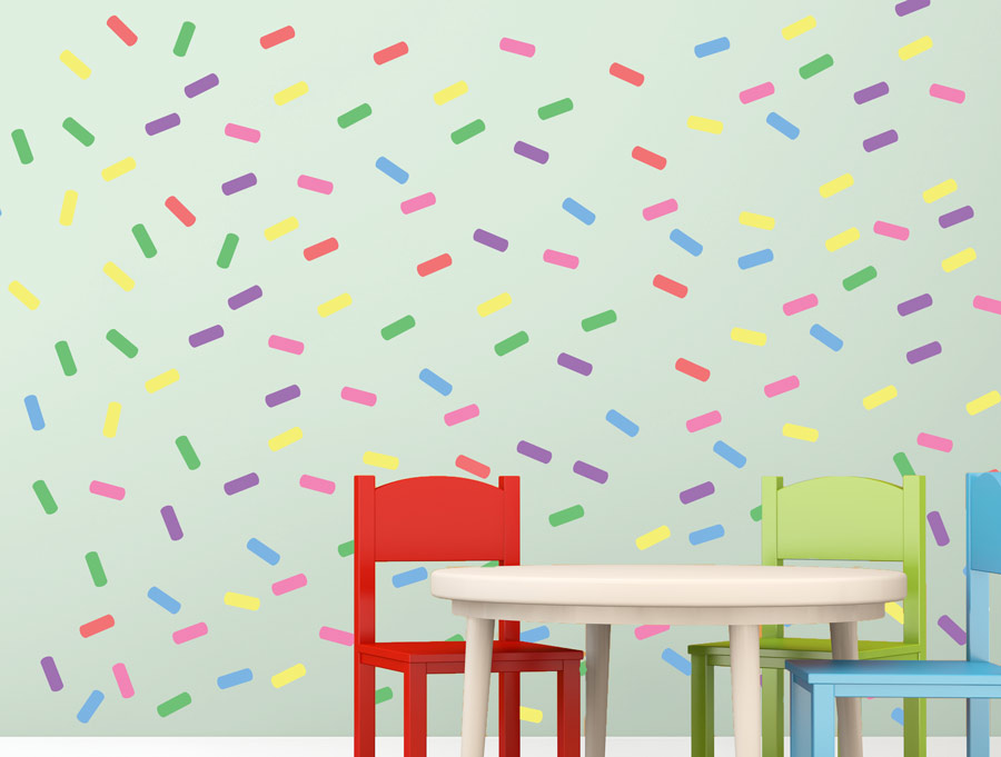 מדבקות - סוכריות צבעוניות