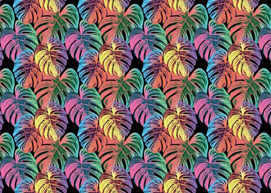טפט - עלים צבעוניים