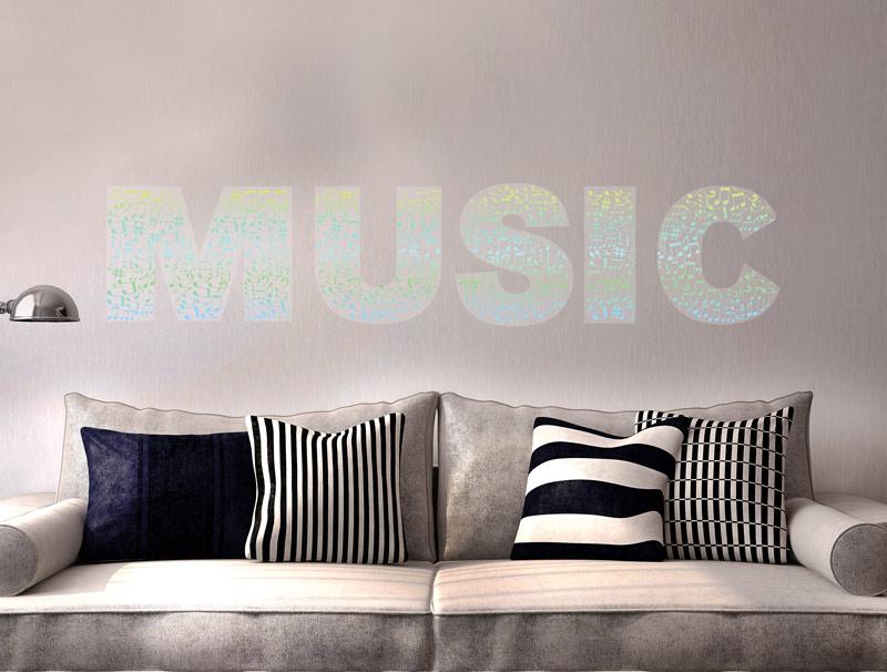 מדבקה -  מוזיקה עם מילוי תוים