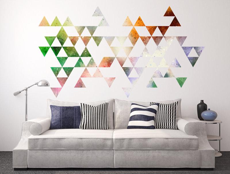משולשים צבעוניים