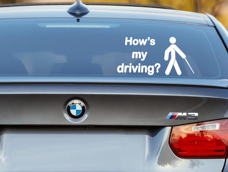 מדבקה לרכב | איך הנהיגה שלי?