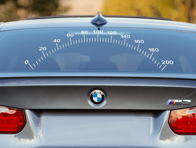 מדבקה לרכב | מד מהירות