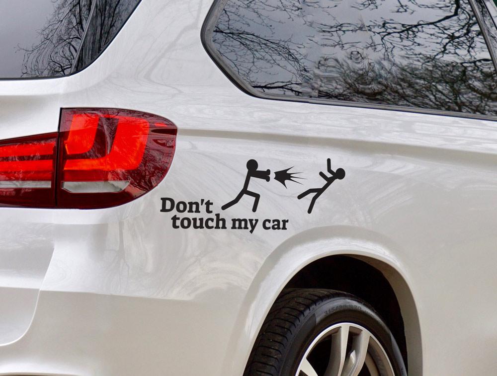 מדבקה - אל תיגע לי באוטו