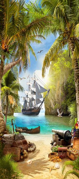 טפט לדלת - שודדי ים ואי האוצר