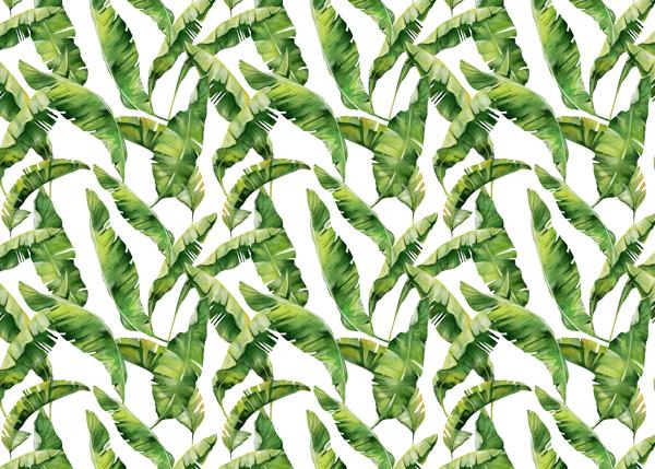 טפט לרהיטים - עלים ירוקים מעוצבים