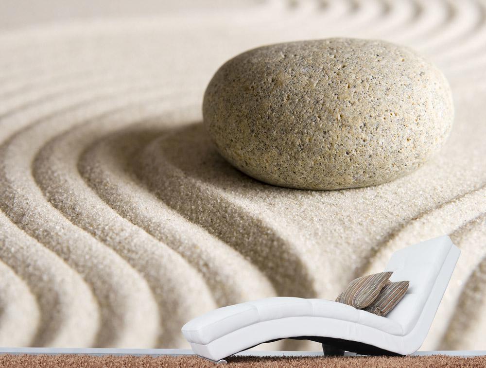 מדבקת טפט - חלוק נחל בחול