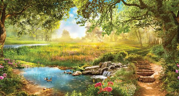 מדבקת טפט - נוף יפיפה בטבע