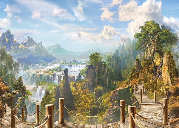 מדבקת טפט לסלון של נוף מדהים אל הטבע