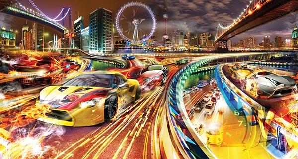 טפט בעיצוב המירוץ הכי מהיר בעולם
