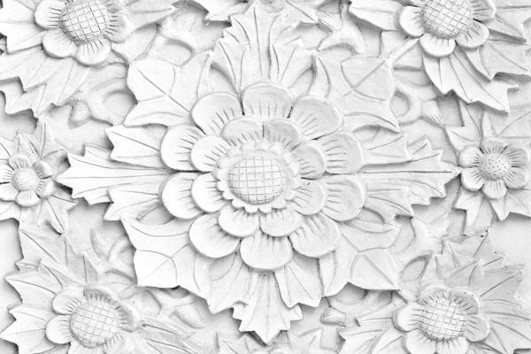 טפט מעוצב של פרח מאבן