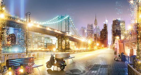 טפט הגשר בעיר האורות