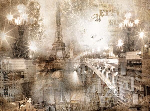 טפט לסלון האורות של פריז