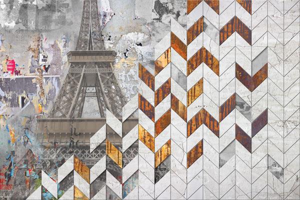 מדבקת טפט בעיצוב אבסטרקטי פריז