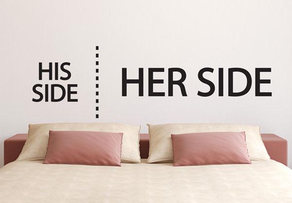 מדבקות קיר לחדר שינה