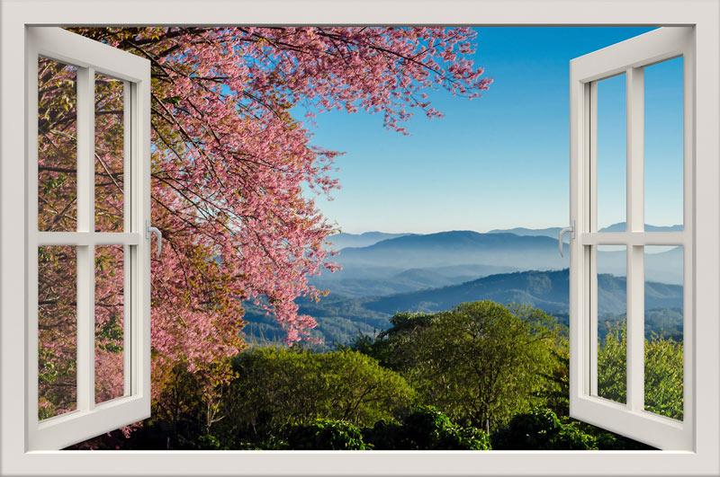מדבקות קיר חלון תלת מימד