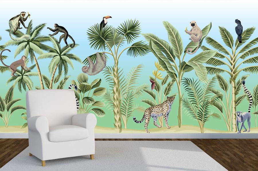 טפט חיות הג'ונגל