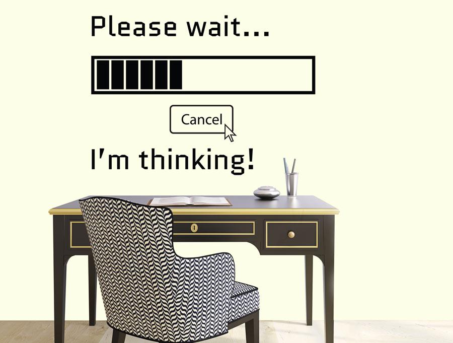 אנא המתן... חושב