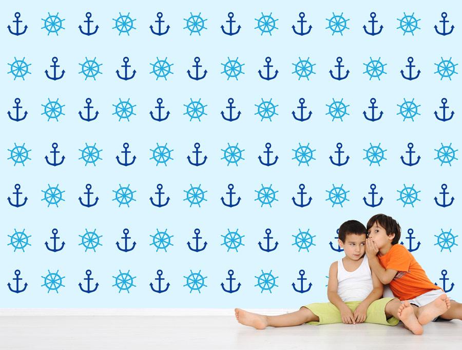 סט מדבקות קיר של עגנים לחדרי ילדים