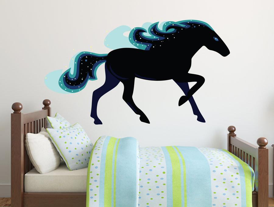 מדבקת קיר סוס הקסם