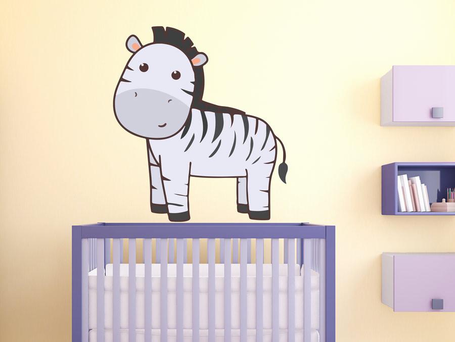 מדבקת קיר לחדר תינוקות זברה קטנה