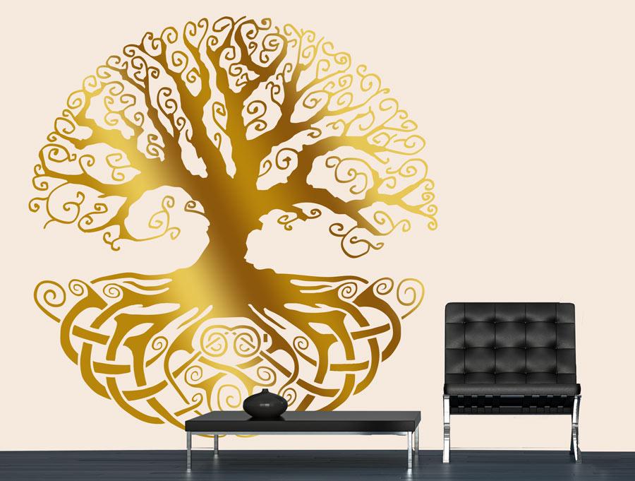 מדבקת קיר של עץ החיים