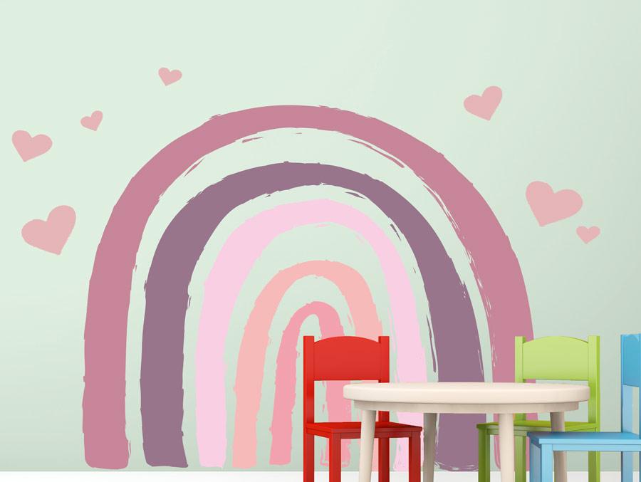 מדבקת קיר לחדר תינוקות קשת סגולה