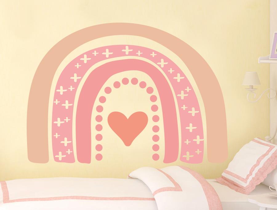 מדבקת קיר לחדר תינוקות קשת