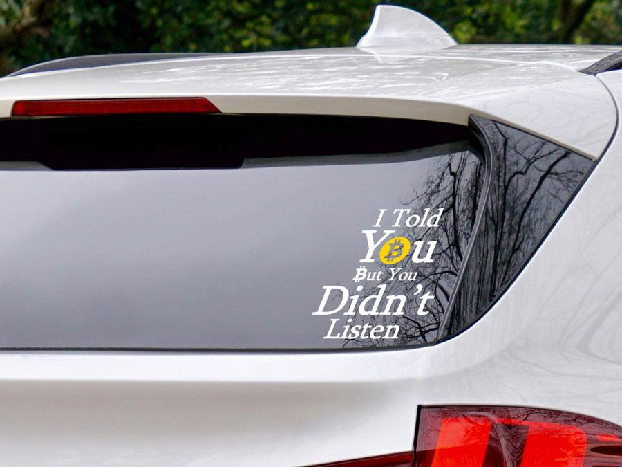 מדבקת רכב מצחיקה ביטקוין