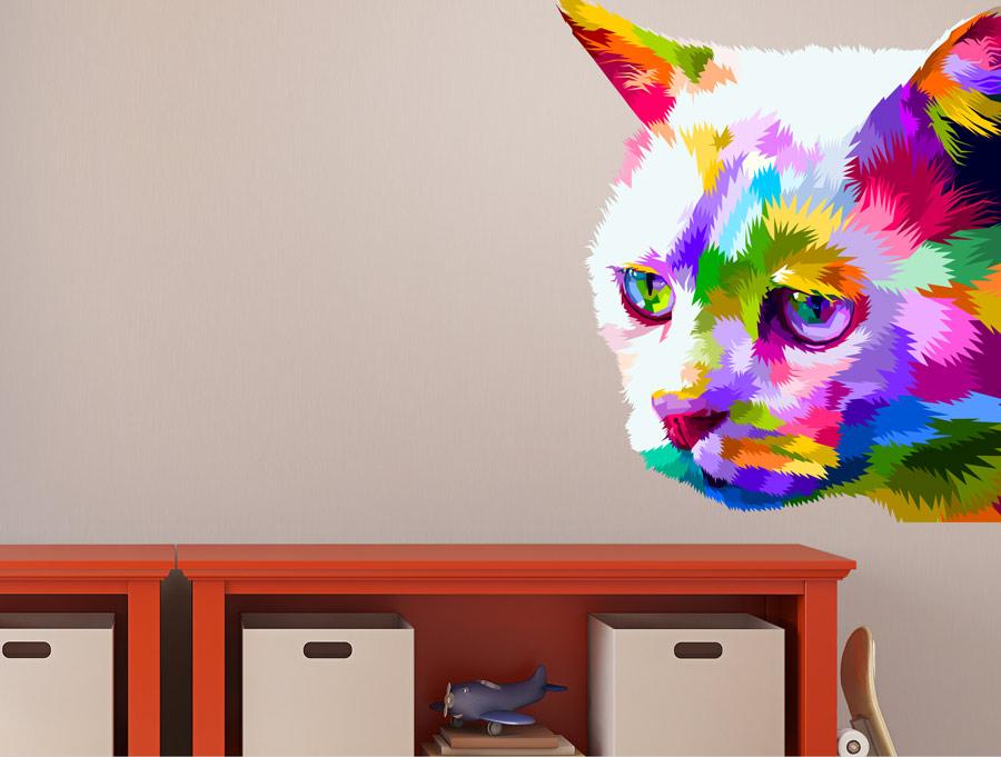 חתול בשלל צבעים