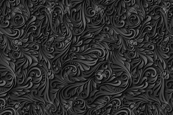 מדבקת טפט עלים כהים בעיצוב ויקטוריאני