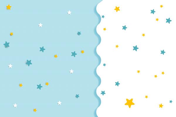 מדבקת טפט לחדר תינוקות כוכבים בתכלת