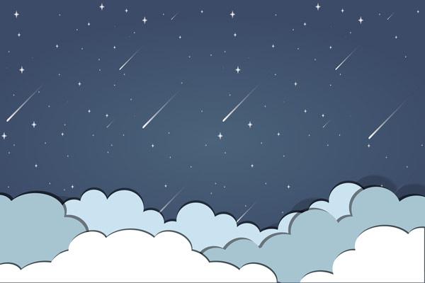 מדבקת טפט לילה טוב לשמיים