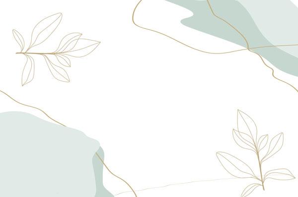 מדבקת טפט מודרנית של פרחים אבסטרקטיים