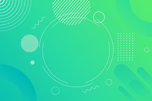 טפט מודרני של עיגולים על רקע ירוק