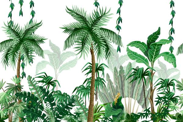 טפט לסלון ג'ונגל יפיפה