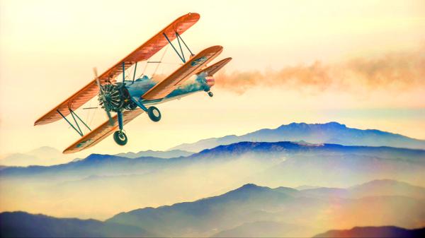 מדבקת טפט טיסה מעל ההרים