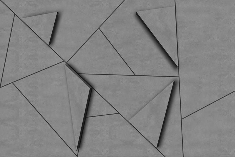 טפט תלת מימד של משולשי בטון