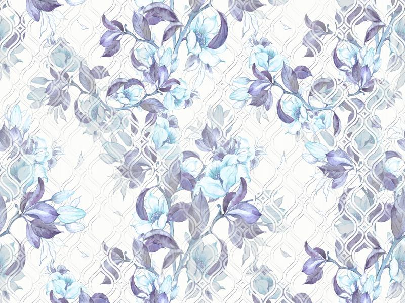 עיצוב פרחים בגווני כחול