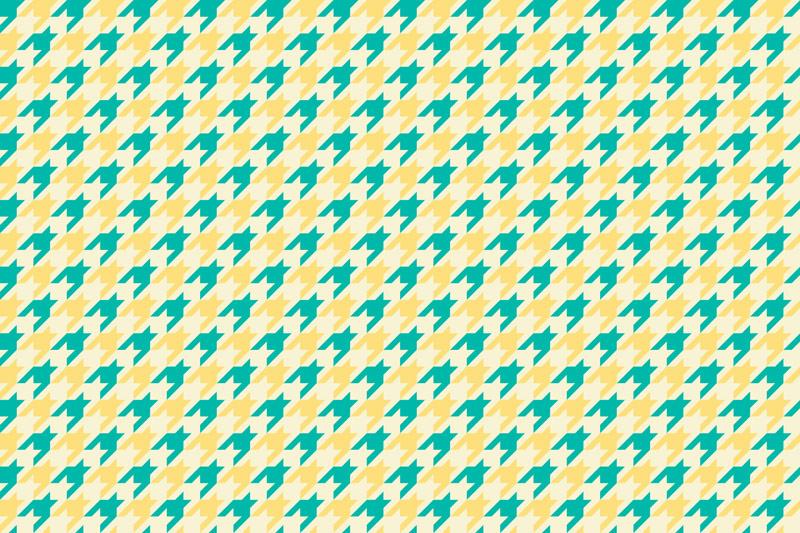 טפט פפיטה בגווני ירוק וצהוב