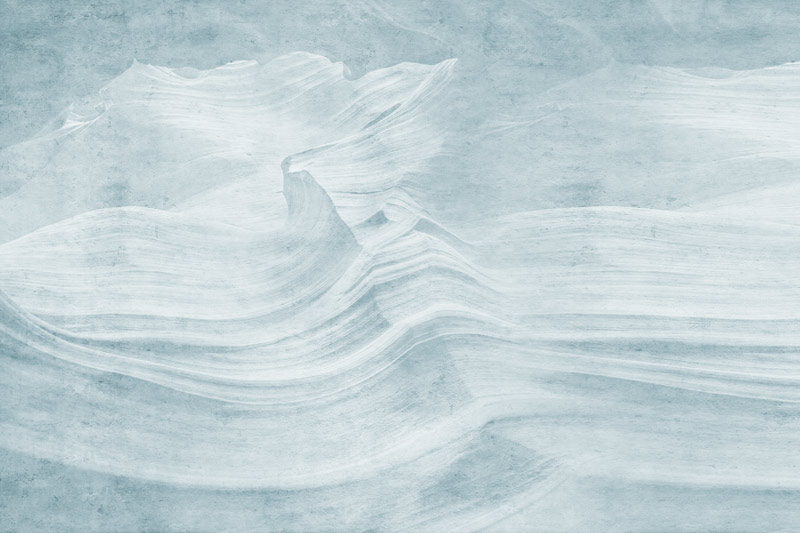 עיצוב גלים בטון כחול